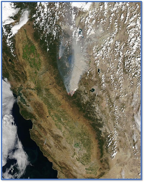 Rim Fire Satellite Image