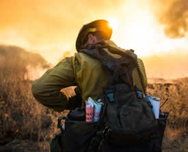 Image of firefighter USFS