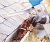 Cleaning rain gutters will make them more efficient and help reduce the risk of home ignition